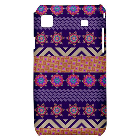 Colorful Winter Pattern Samsung Galaxy S i9000 Hardshell Case