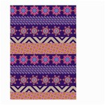 Colorful Winter Pattern Large Garden Flag (Two Sides) Back