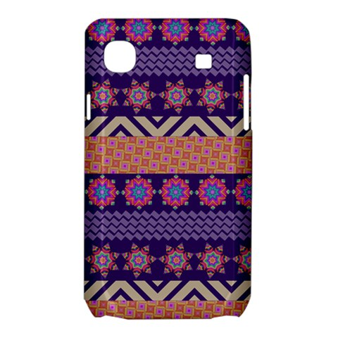 Colorful Winter Pattern Samsung Galaxy SL i9003 Hardshell Case