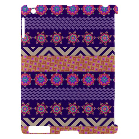 Colorful Winter Pattern Apple iPad 2 Hardshell Case (Compatible with Smart Cover)