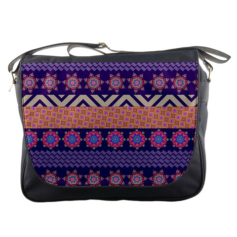 Colorful Winter Pattern Messenger Bags