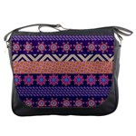 Colorful Winter Pattern Messenger Bags Front