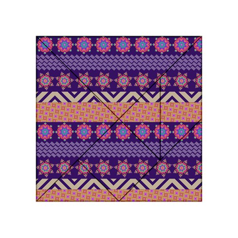 Colorful Winter Pattern Acrylic Tangram Puzzle (4  x 4 )