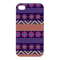 Colorful Winter Pattern Apple iPhone 4/4S Premium Hardshell Case