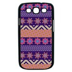 Colorful Winter Pattern Samsung Galaxy S III Case (Black) Front