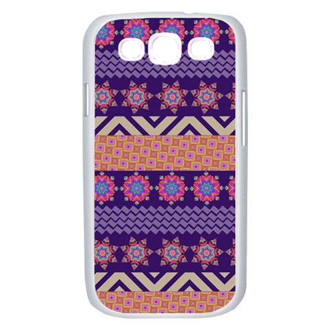 Colorful Winter Pattern Samsung Galaxy S III Case (White)