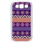 Colorful Winter Pattern Samsung Galaxy S III Case (White) Front