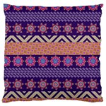 Colorful Winter Pattern Large Cushion Case (Two Sides) Front