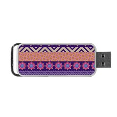 Colorful Winter Pattern Portable USB Flash (One Side)