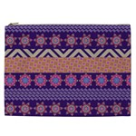 Colorful Winter Pattern Cosmetic Bag (XXL)  Front