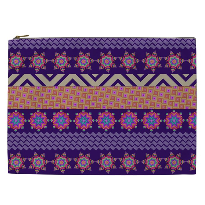 Colorful Winter Pattern Cosmetic Bag (XXL)