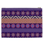 Colorful Winter Pattern Cosmetic Bag (XXL)  Back