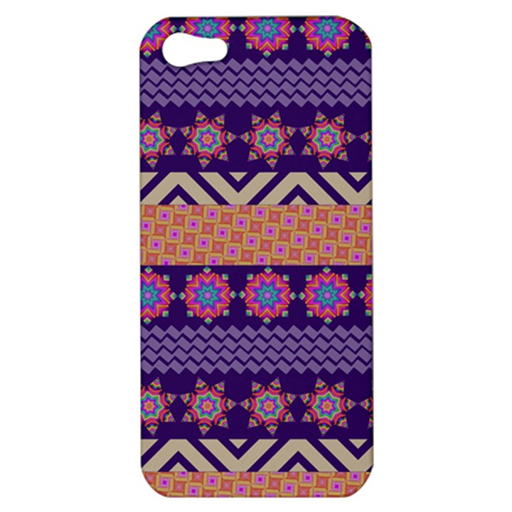 Colorful Winter Pattern Apple iPhone 5 Hardshell Case