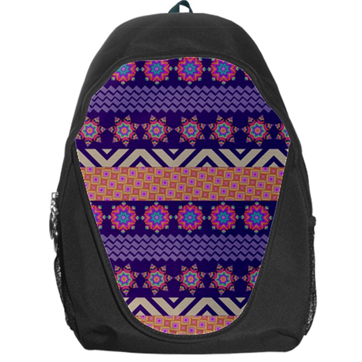 Colorful Winter Pattern Backpack Bag