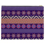Colorful Winter Pattern Cosmetic Bag (XXXL)  Back