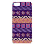 Colorful Winter Pattern Apple iPhone 5 Seamless Case (White) Front