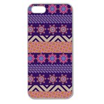 Colorful Winter Pattern Apple Seamless iPhone 5 Case (Clear) Front