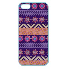 Colorful Winter Pattern Apple Seamless Iphone 5 Case (color)