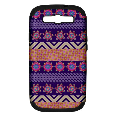 Colorful Winter Pattern Samsung Galaxy S III Hardshell Case (PC+Silicone)