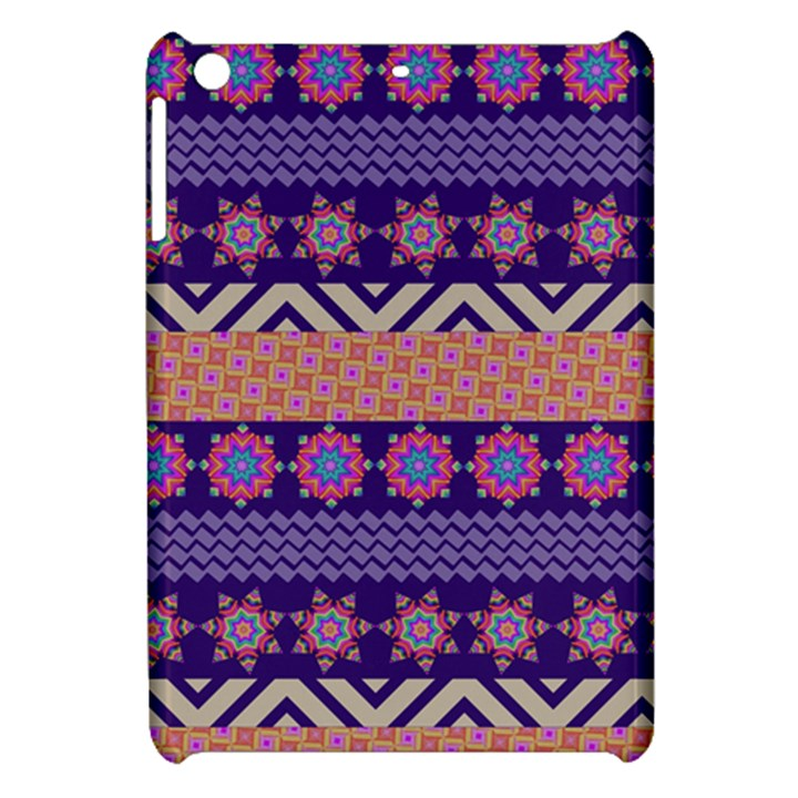 Colorful Winter Pattern Apple iPad Mini Hardshell Case