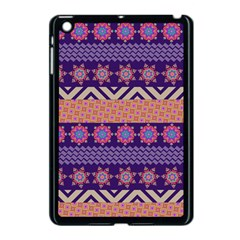 Colorful Winter Pattern Apple iPad Mini Case (Black)