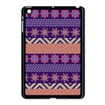 Colorful Winter Pattern Apple iPad Mini Case (Black) Front