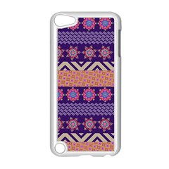Colorful Winter Pattern Apple iPod Touch 5 Case (White)