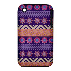 Colorful Winter Pattern Apple iPhone 3G/3GS Hardshell Case (PC+Silicone)