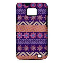 Colorful Winter Pattern Samsung Galaxy S II i9100 Hardshell Case (PC+Silicone)