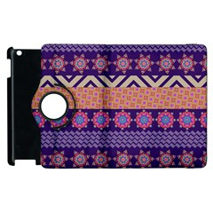 Colorful Winter Pattern Apple iPad 2 Flip 360 Case