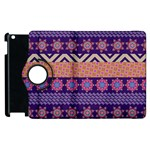 Colorful Winter Pattern Apple iPad 3/4 Flip 360 Case Front