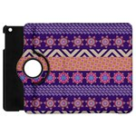 Colorful Winter Pattern Apple iPad Mini Flip 360 Case Front