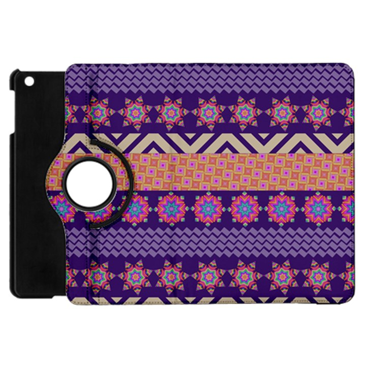 Colorful Winter Pattern Apple iPad Mini Flip 360 Case