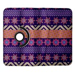 Colorful Winter Pattern Samsung Galaxy Note II Flip 360 Case Front