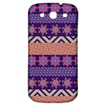 Colorful Winter Pattern Samsung Galaxy S3 S III Classic Hardshell Back Case Front
