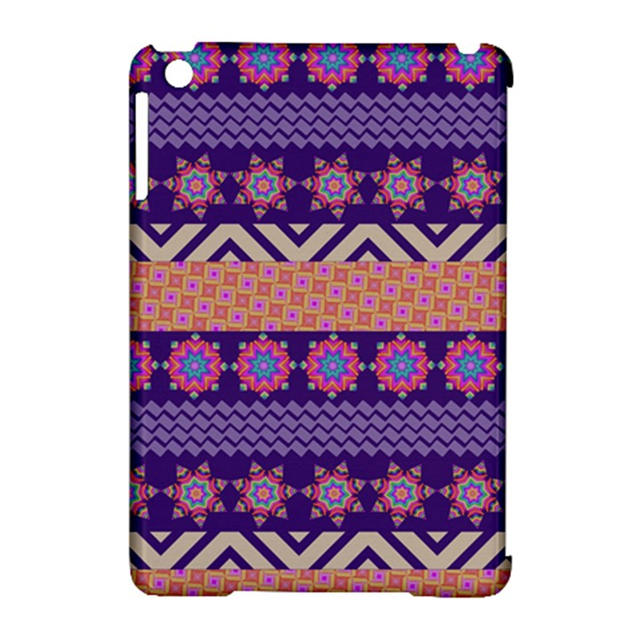 Colorful Winter Pattern Apple iPad Mini Hardshell Case (Compatible with Smart Cover)