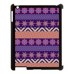 Colorful Winter Pattern Apple iPad 3/4 Case (Black) Front