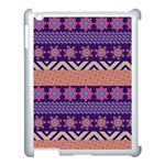 Colorful Winter Pattern Apple iPad 3/4 Case (White) Front