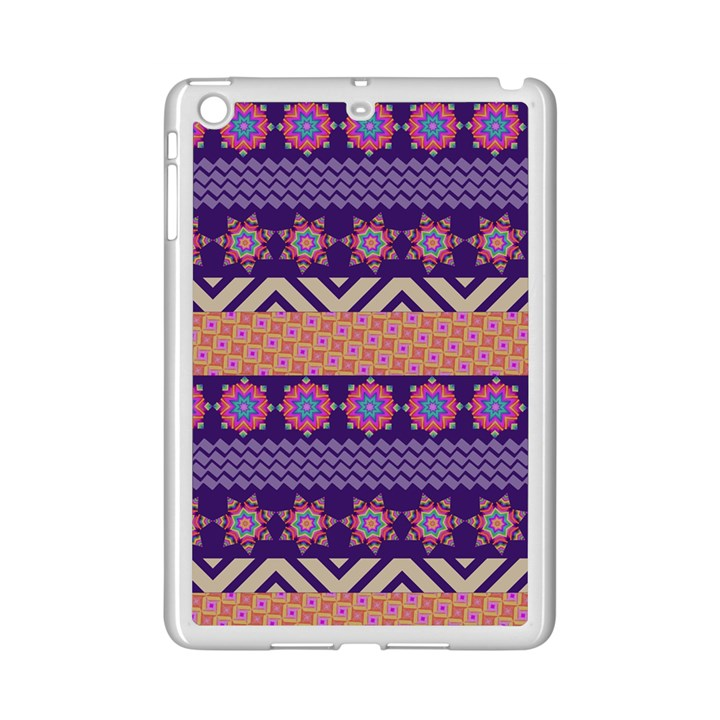 Colorful Winter Pattern iPad Mini 2 Enamel Coated Cases