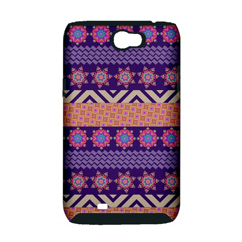 Colorful Winter Pattern Samsung Galaxy Note 2 Hardshell Case (PC+Silicone)