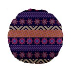 Colorful Winter Pattern Standard 15  Premium Round Cushions Back