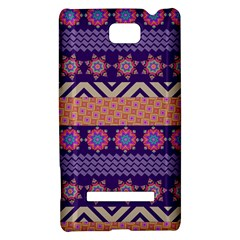 Colorful Winter Pattern HTC 8S Hardshell Case