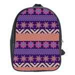 Colorful Winter Pattern School Bags (XL)  Front