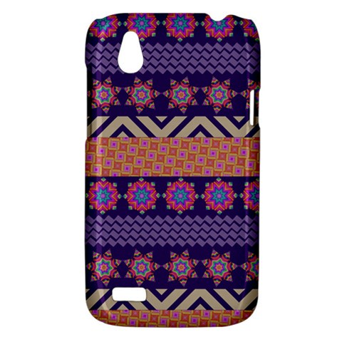 Colorful Winter Pattern HTC Desire V (T328W) Hardshell Case