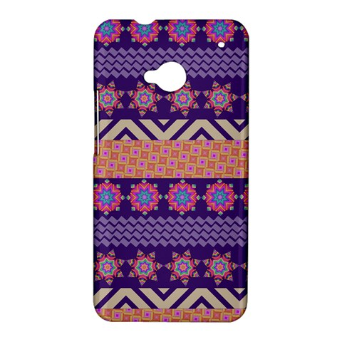 Colorful Winter Pattern HTC One M7 Hardshell Case