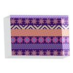 Colorful Winter Pattern 4 x 6  Acrylic Photo Blocks Front