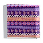 Colorful Winter Pattern 5  x 5  Acrylic Photo Blocks Front