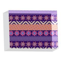 Colorful Winter Pattern 5 x 7  Acrylic Photo Blocks
