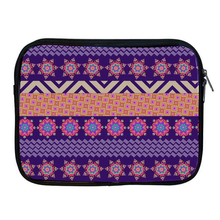 Colorful Winter Pattern Apple iPad 2/3/4 Zipper Cases