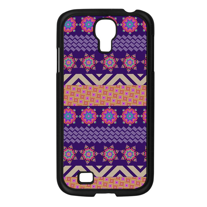 Colorful Winter Pattern Samsung Galaxy S4 I9500/ I9505 Case (Black)